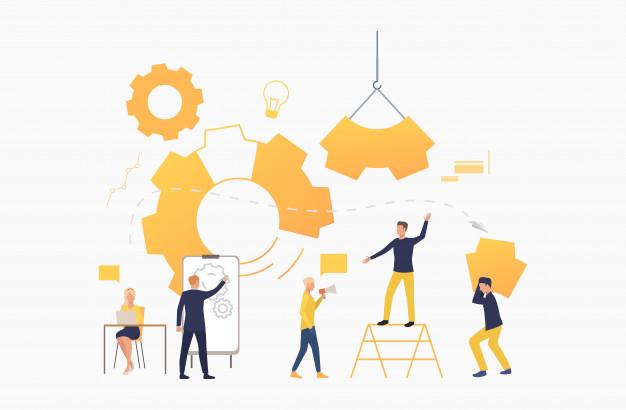 progetti - teamwork ingranaggio